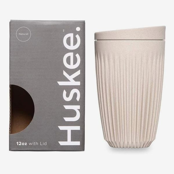 Huskee Cup + Lid Natural (12 Ounces)
