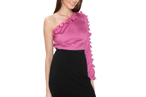 Frill One Shoulder Top