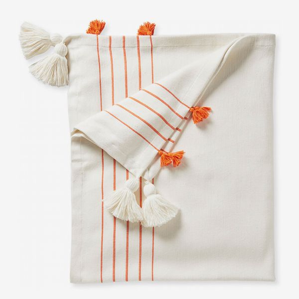 Serena & Lily Del Mar Cotton Throw - Papaya