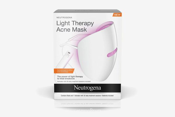 Neutrogena Light Therapy Acne Treatment Face Mask, Chemical & UV-Free With Clinically Proven Blue & Red Acne Light Technology, Gentle for Sensitive Skin