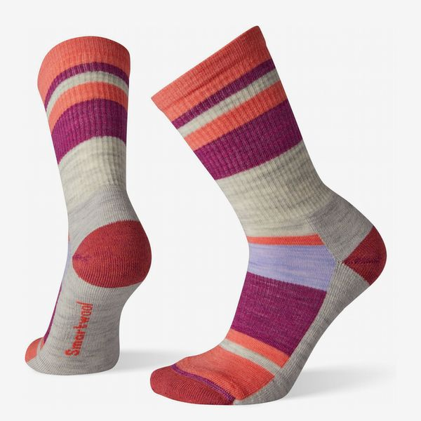 Smartwool Hike Light Striped Crew Socks (Women's)