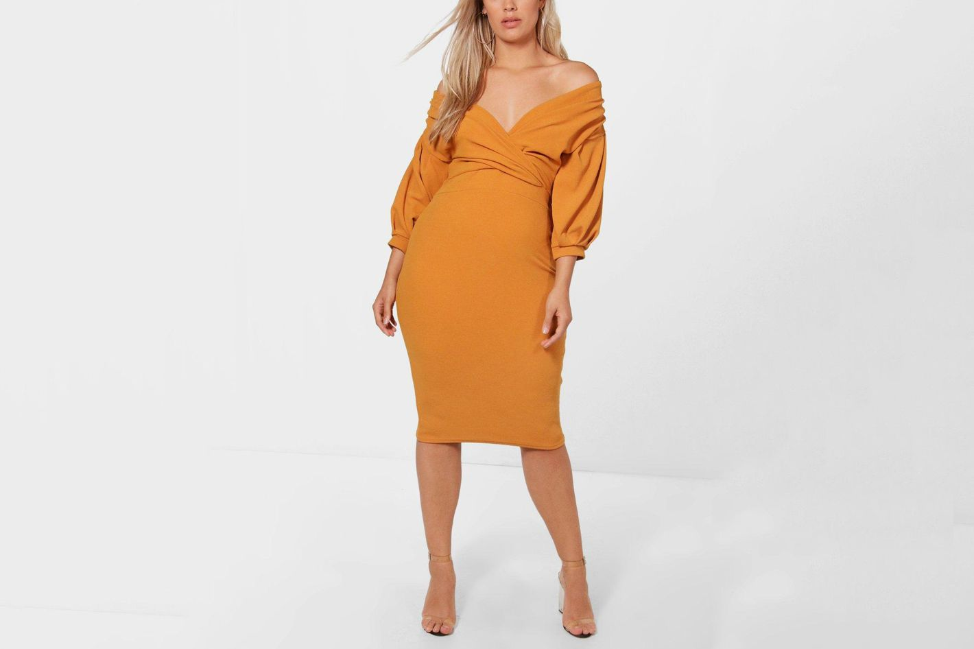 Taylor Off the Shoulder Midi Dress