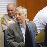 GALVESTON, TX - NOVEMBER 10: Millionaire murder defendant Robert Durst sits in State District Judge Susan Criss court November 10, 2003 at the Galveston County Courthouse in Galveston, Texas. Durst is being charged for the murder and mutilation of his neighbor Morris Black. (Photo by James Nielsen/ Getty Images)