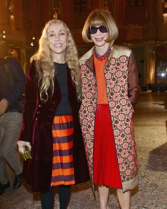 Franca Sozzani and Anna Wintour.