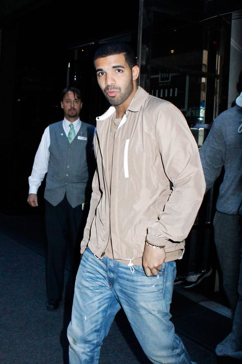 Drake spotted leaving The London NYC hotel