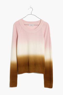 Madewell Dip-Dye Cashmere Shrunken Sweatshirt
