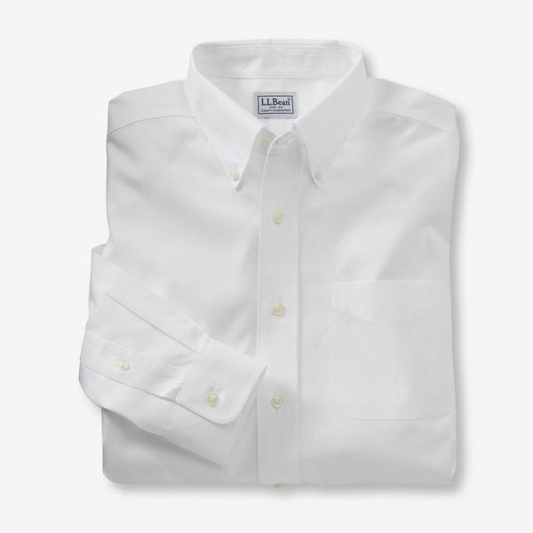 L.L.Bean Men's Wrinkle-Free Pinpoint Oxford Cloth Shirt, Traditional Fit