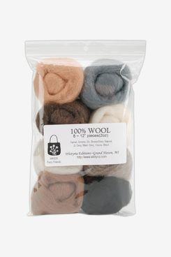 Wistyria Editions 8-Pack Wool Roving Yarn