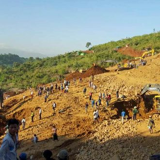 JADE MINE LANDSLIDE IN NORTHERN MYANMAR