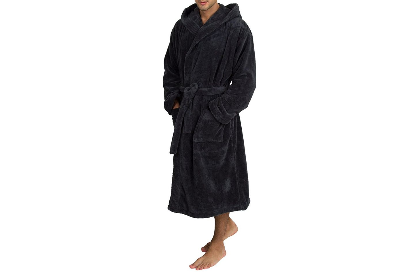 63922add48 TowelSelections Men s Fleece Bathrobe at Amazon