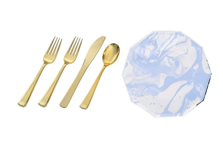 Make it easy for yourself at the end of the night with nice paper plates and elegant plastic flatware.  sc 1 st  The Cut & How to Fake an Expensive Dinner Party