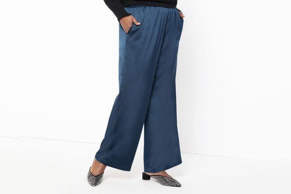 Eloquii Satin Wide Leg Trouser