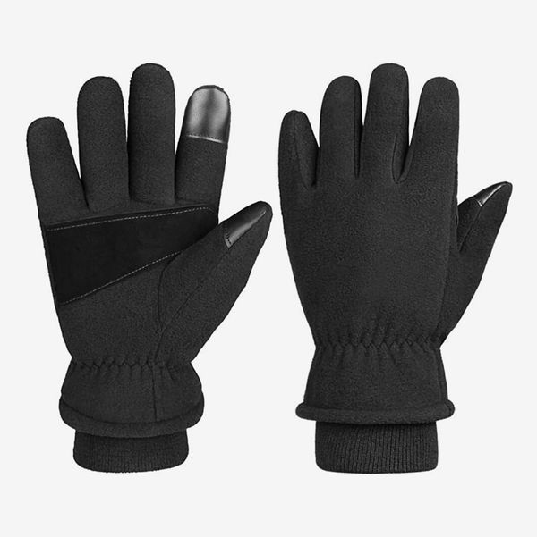 Running Skiing Black Women Winter Warm Gloves Touch Screen Gloves Smart Texting Gloves Windproof Mittens Fleece Lined Cold Weather Gloves Windproof for Outdoor Sports Driving