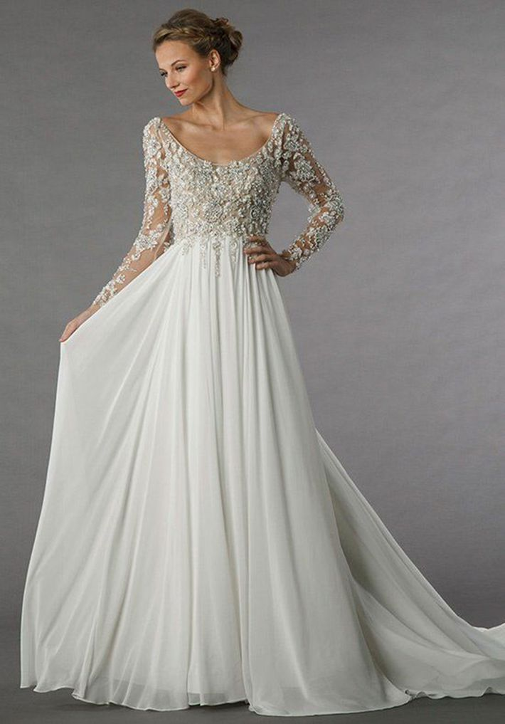23 elegant long sleeve wedding dresses for winter weddings alita graham gown 4449 at kleinfeld bridal salon junglespirit Gallery