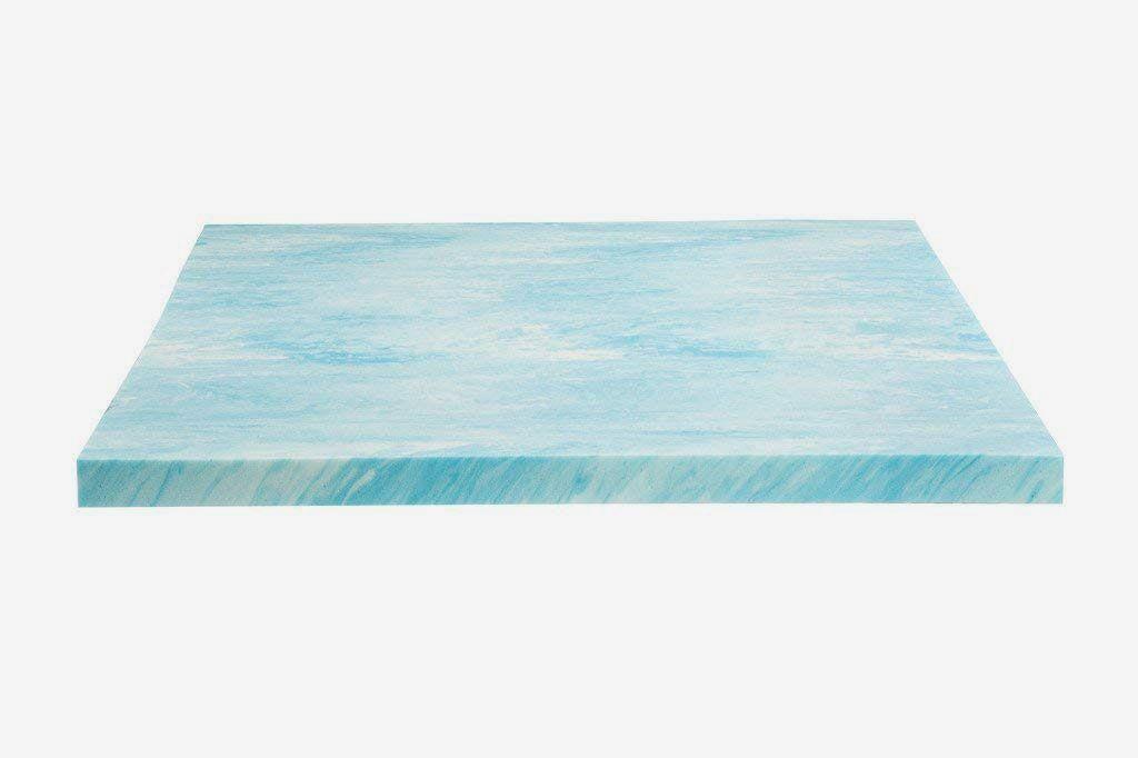 """Dreamfoam Bedding DF20GT2046 Memory Foam 2"""" Gel Swirl Topper, Full"""