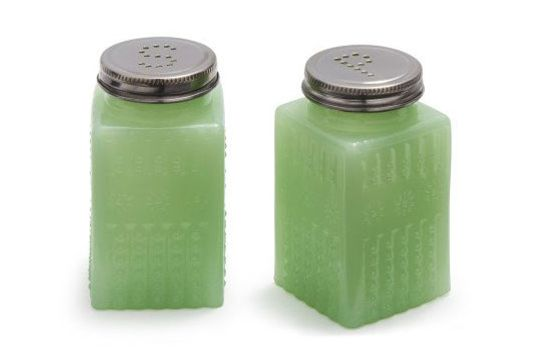 Sur la Table Jadeite Salt and Pepper Shakers