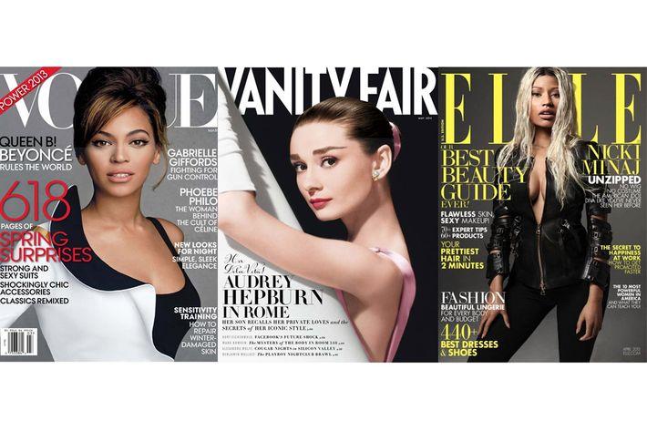 Beyonce, Audrey Hepburn, and Nikki MInaj.