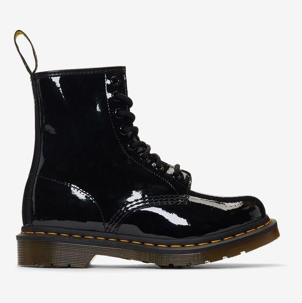 Dr. Martens Black Patent 1460 Boots