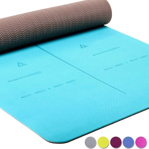 Heathyoga Eco Friendly Thick Non-Slip Extra Large Yoga Mat with Carry Strap