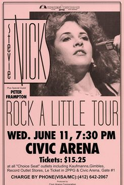 Stevie Nicks Rock a Little Tour Live 1986 Retro Art Print