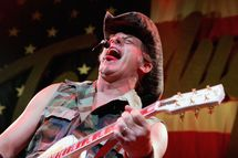 Rock artist Ted Nugent performs at the House of Blues inside the Mandalay Bay Resort & Casino during his Uncle Ted Remember the Alamo tour