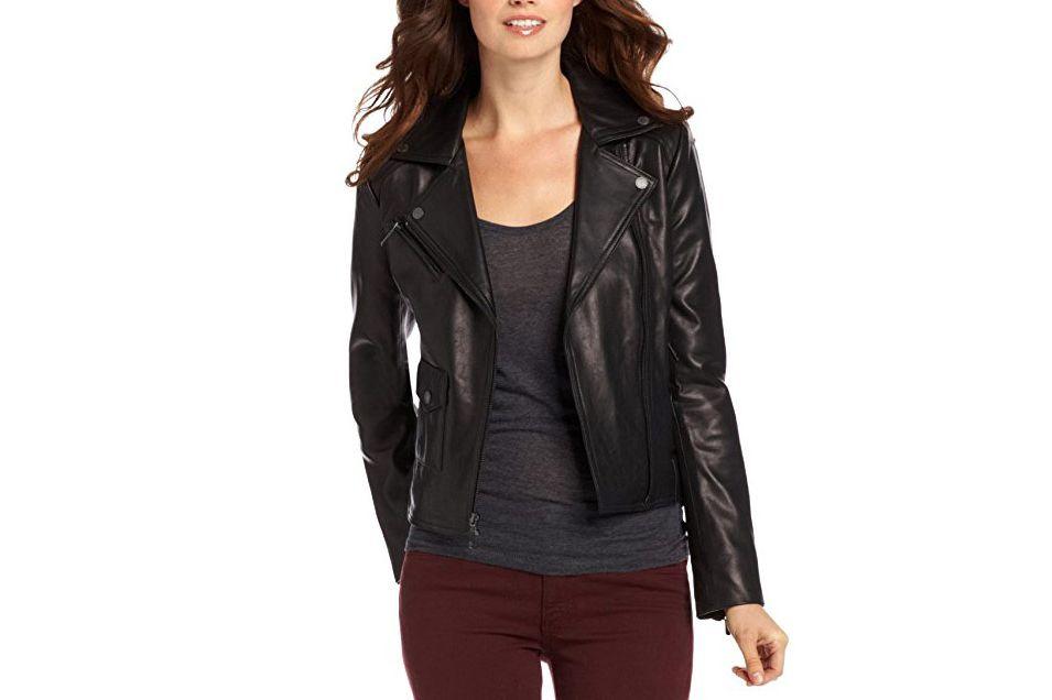 BCBG Brittany Leather Jacket