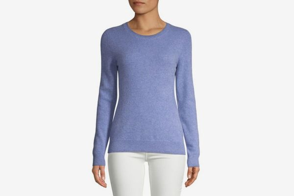 Lord & Taylor Essential Cashmere Crewneck Sweater