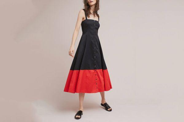 Mara Hoffman Colorblocked Corset Dress