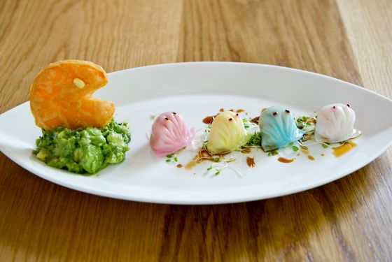 Pac-Man-inspired dumplings, like the ones served at Red Farm, should definitely be on the menu.