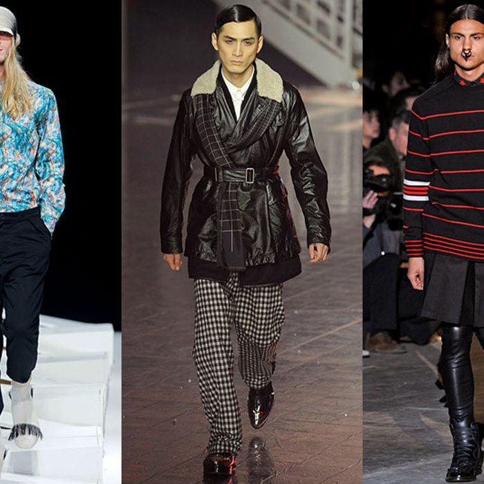 Fall 2012 looks from Henrik Vibskov, John Galliano, and Givenchy.