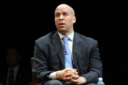 Newark mayor Cory Booker attends the Newark Peace Education Summit at New Jersey Performing Arts Center on May 14, 2011 in Newark, New Jersey.