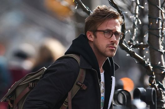Ryan Gosling seen leaving his hotel with 'El' Topo', the book from the film by Alexandro Jodorowski in New York City, USA.