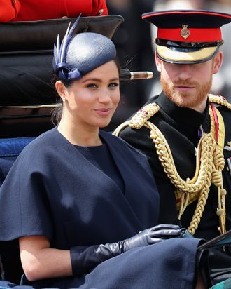 Meghan Markle and Prince Harry at Trooping the Colour.