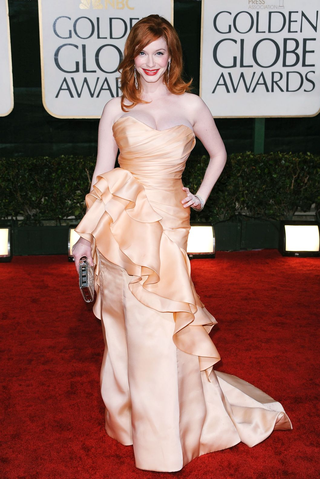 BEVERLY HILLS, CA - JANUARY 17:  Actress Christina Hendricks arrives at the 67th Annual Golden Globe Awards held at The Beverly Hilton Hotel on January 17, 2010 in Beverly Hills, California.  (Photo by Frazer Harrison/Getty Images)