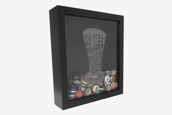 Proper Pour Beer Bottle Cap Holder Shadow Box