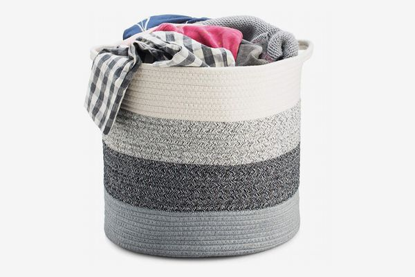 Smart Additions Cotton Rope Storage Baskets Fold-able with Handles