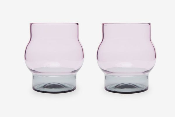 Bump Set of Two Short Glasses