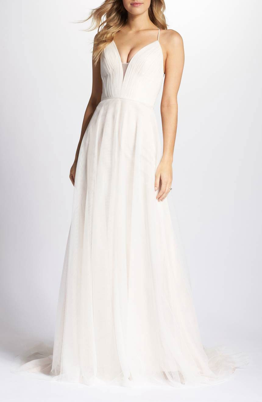 Ti Adora by Allison Webb Plunging A-Line Gown