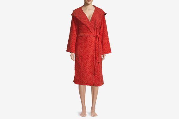 Missoni Chevron Cotton Hooded Bath Robe