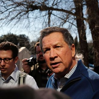 Ohio Governor And GOP Presidential Candidate John Kasich Campaigns In South Carolina