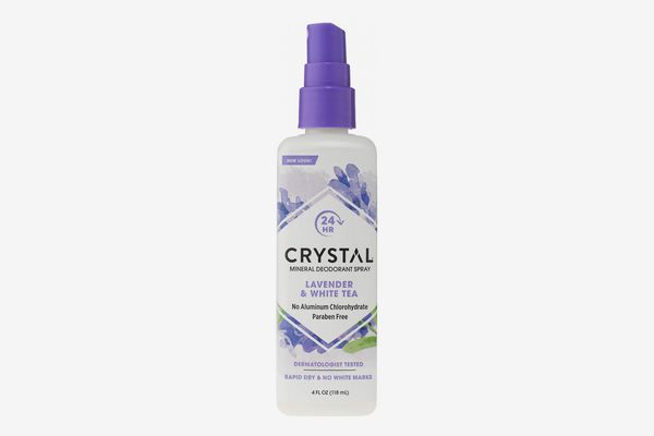Crystal Mineral Deodorant Spray, Lavender and White Tea