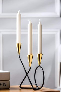 Metal Accent 3-Candle Holder Centerpiece