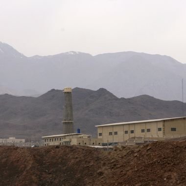 A general view of the Natanz nuclear enrichment facility, is seen on April 9, 2007.