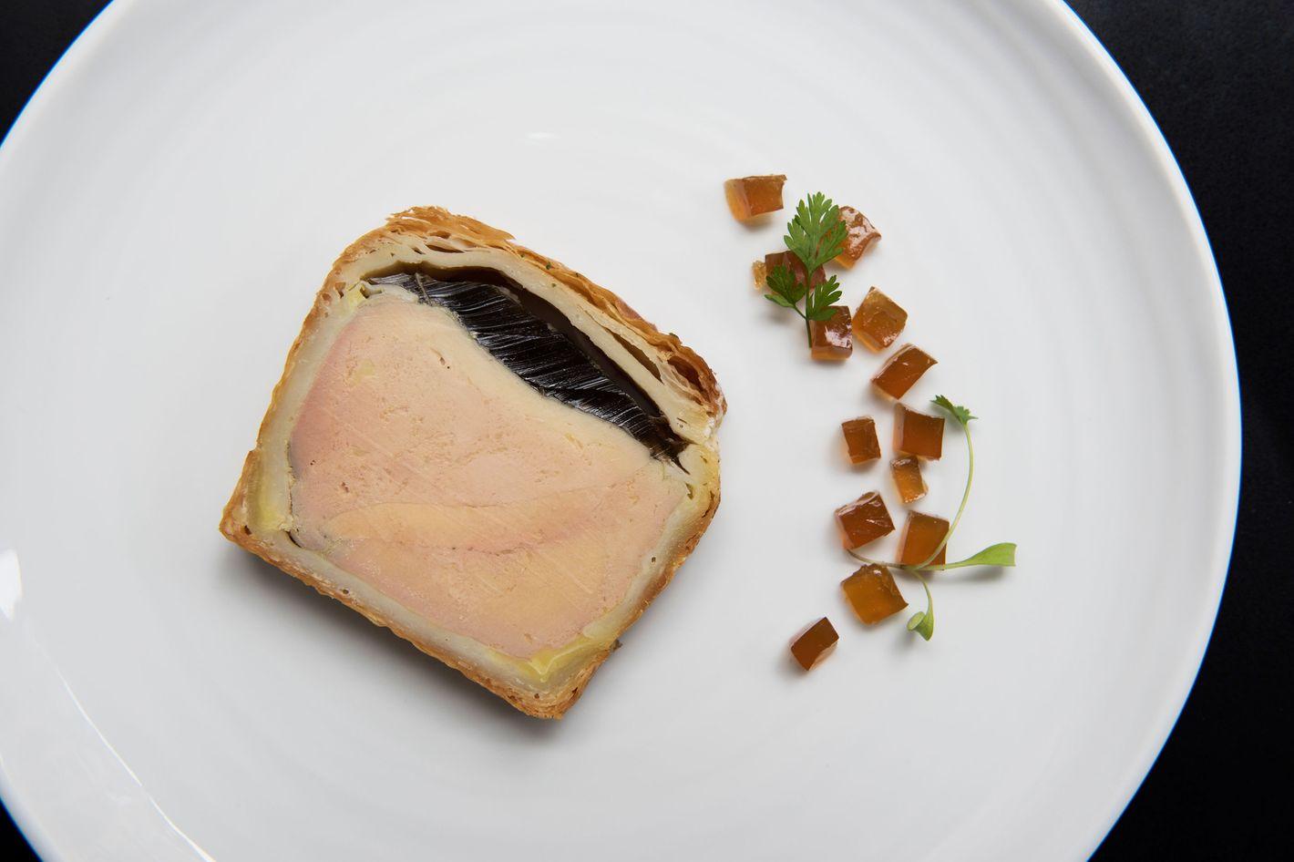 Terrine en croute of duck foie gras.