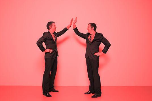 Men doing high five