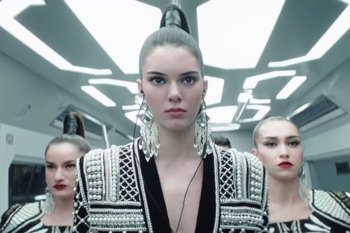 Balmain high-ponytail army.