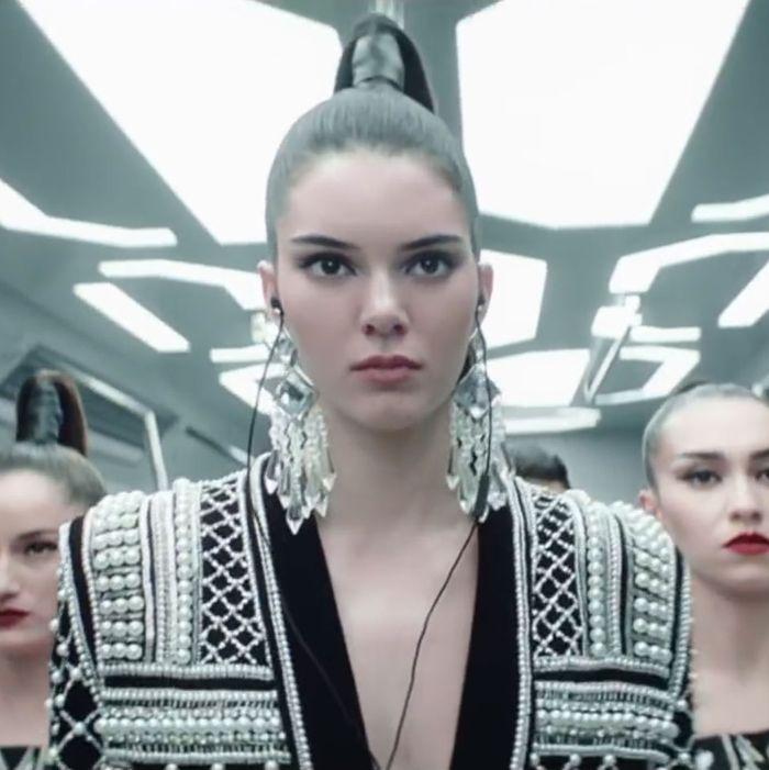 Balmain high-ponytail army.