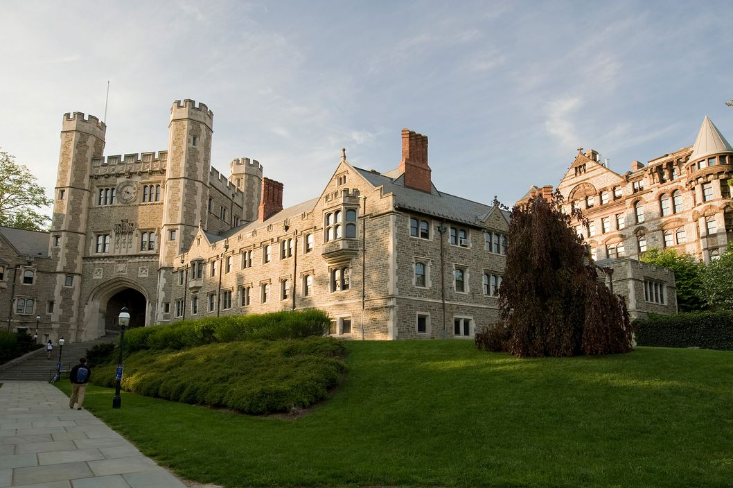 Blair Hall and Buyer Hall at Princeton University in Princeton, New Jersey.