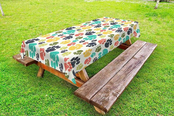 Ambesonne Dog Lover Outdoor Tablecloth