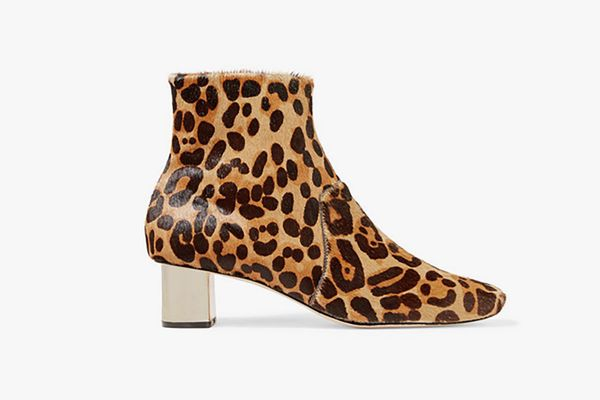 NANUSHKA Clarence leopard-print calf hair ankle boots
